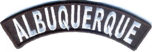 Albuquerque City Rocker Patch Sml Embroidered Motorcycle Biker Vest Patch SR755