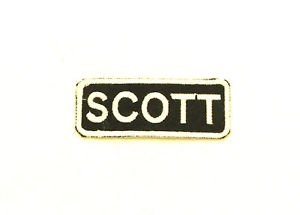 SCOTT  Name Tag Patch Iron on or sew on for Shirt Jacket Vest New Name Patches