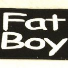 FAT BOY white on black Small Badge for Biker Vest Jacket Motorcycle Patch