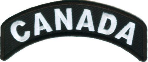 CANADA Rocker Patch Small Embroidered Motorcycle NEW Biker Vest Patch