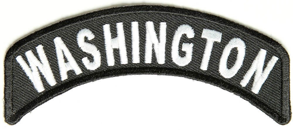 Washington State Rocker Patch Sml Embroidered Motorcycle Biker Vest Patches 750