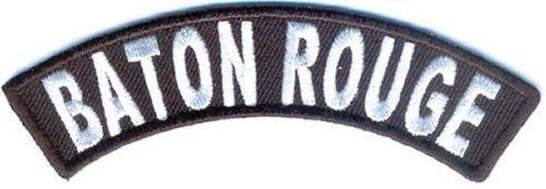 Baton Rouge City Rocker Patch Sml Embroidered Motorcycle Biker Vest Patch SR759