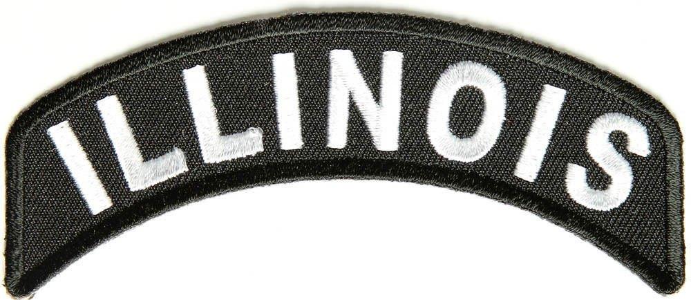 Illinois State Rocker Patch Sml Embroidered Motorcycle Biker Vest Patch SR716