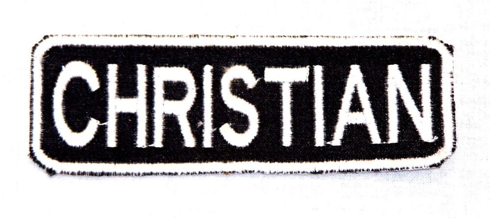 CHRISTIAN Name Tag Patch Iron or sew on for Shirt Jacket Vest New BIKER Patches