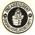 2nd amendment original homeland security Small Badge Biker Vest Motorcycle Patch