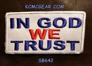 IN GOD WE TRUST Red White and Blue Small Badge for Biker Vest Motorcycle Patch