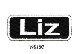 LIZ Name Tag Patch Iron or sew on for Shirt Jacket Vest New BIKER Patches