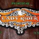 "LADY RIDER Eagle for Biker Motorcycle Vest Jacket Military Back Rocker Patch 10"""