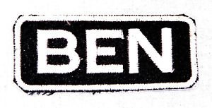 BEN Name Tag Patch Iron or sew on for Shirt Jacket Vest New BIKER Patches
