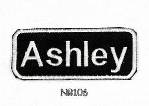 ASHLEY Name Tag Patch Iron or sew on for Shirt Jacket Vest New BIKER Patches