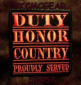 DUTY HONOR COUNTRY Small Badge for Biker Vest Jacket Motorcycle Patch