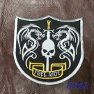 RIDE FREE SHIELD Patch for Biker Motorcycle Vest Jacket Back Patches 10""