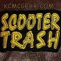 SCOOTER TRASH Small Badge for Biker Vest Motorcycle Patch