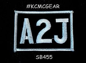 A2J Small Badge for Biker Vest Jacket Motorcycle Patch