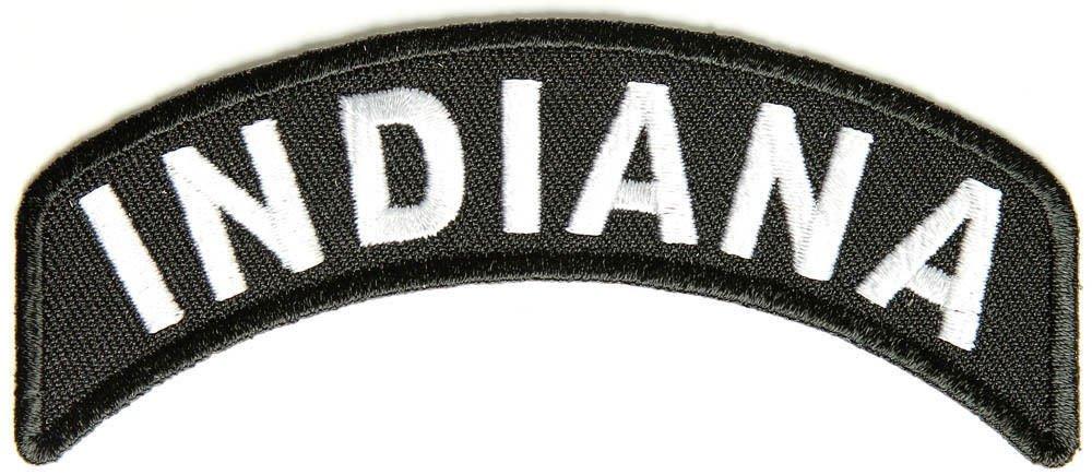 Indiana State Rocker Patch Sml Embroidered Motorcycle Biker Vest Patch SR717