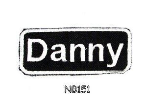 DANNY Name Tag Patch Iron or sew on for Shirt Jacket Vest New BIKER Patches