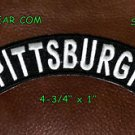 Embroidered Pittsburgh Top Rocker Small Biker Patches for sleeve