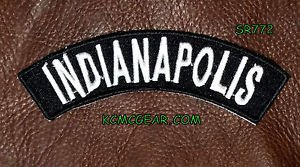 Indianapolis Embroidered Patch Small Top Rocker Biker Patches