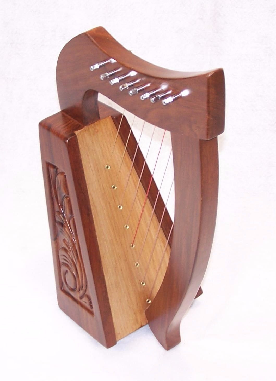 "19"" Tall 8 string Lily Celtic Harp for Children or starter harp. Small 19 inch"