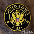 United States Army Round Small Badge for Biker Vest Jacket Motorcycle Patch
