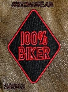 100% Biker Small Badge for Biker Vest Jacket Motorcycle Patch