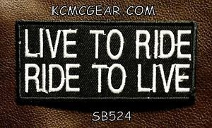 Live to Ride Ride to Live Small Badge for Biker Vest Jacket Motorcycle Patch