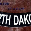 """NORTH DAKOTA White on Black Back Patch Bottom Rocker for Biker Veteran Vest 10"""""""