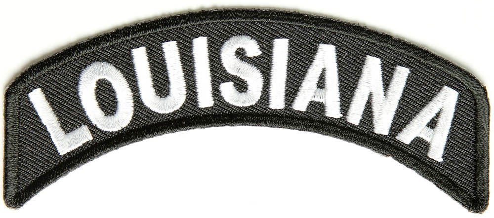 Louisiana State Rocker Patch Sml Embroidered Motorcycle Biker Vest Patch SR721