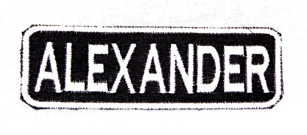 ALEXANDER Name Tag Patch Iron on or sew on for Shirt Jacket Vest New Name Patch