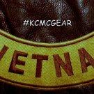 """VIETNAM Brown on Gold Back Patch Bottom Rocker for Biker Veteran Vest Jacket 10"""""""