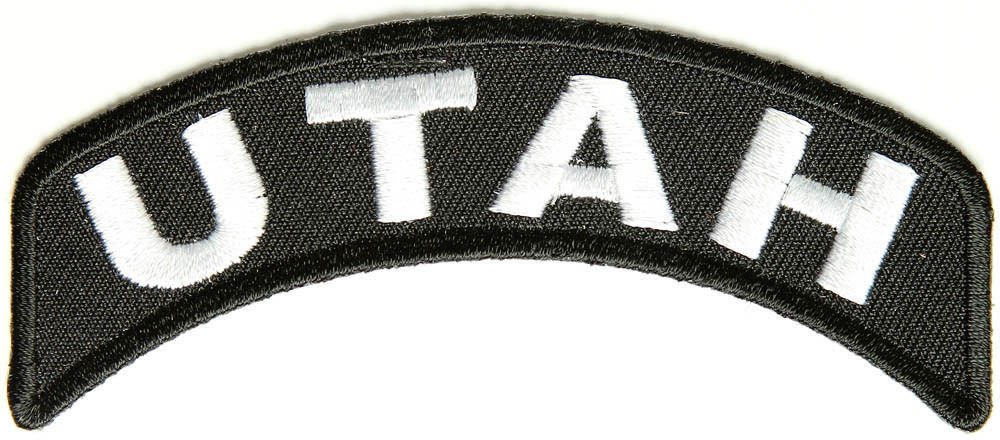 Utah State Rocker Patch Sml Embroidered Motorcycle Biker Vest Patches SR747