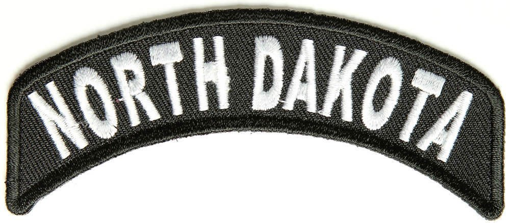 North DakotaState Rocker Patch Sml Embroidered Motorcycle Biker Vest Patch 737