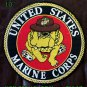UNITED STATES MARINE CORPS Bull Dog in hat for Motorcycle Jacket Back Patches10""