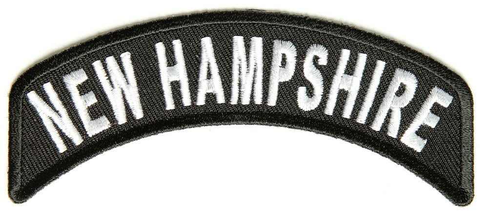 New Hampshir State Rocker Patch Sml Embroidered Motorcycle Biker Vest Patch R732