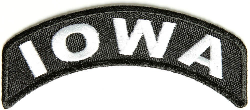 Iowa State Rocker Patch Sml Embroidered Motorcycle Biker Vest Patch SR718