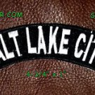 Salt Lake CityTop Rocker Small Embroidered Biker Patches for sleeve