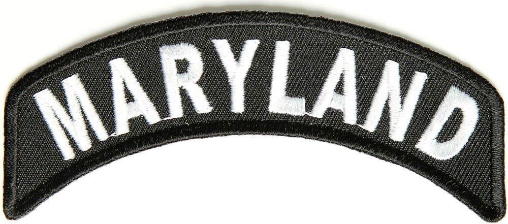 MarylandState Rocker Patch Sml Embroidered Motorcycle Biker Vest Patch SR723