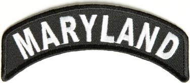 Maryland State Rocker Patch Sml Embroidered Motorcycle Biker Vest Patch SR723