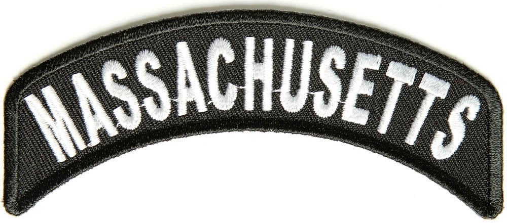 Massachusetts State Rocker Patch Sml Embroidered Motorcycle Biker Vest Patch