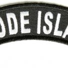 Rhode Island State Rocker Patch Sml Embroidered Motorcycle Biker Vest Patch 742