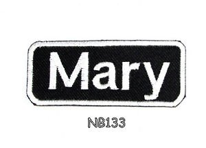 MARY Name Tag Patch Iron or sew on for Shirt Jacket Vest New BIKER Patches