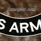 U.S. ARMY White on Black Back Patch Bottom Rocker for Biker Veteran Vest 10""