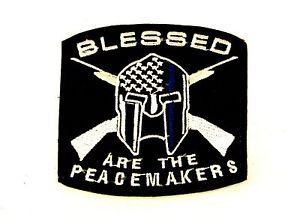 Blessed are the Peace Makers Small Badge Biker Vest Jacket Patch SB829