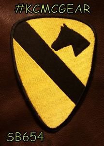 1ST CAVALRY Small Badge for Biker Vest Jacket Motorcycle Patch