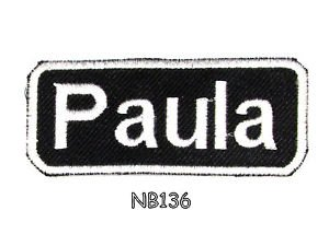 PAULA Name Tag Patch Iron or sew on for Shirt Jacket Vest New BIKER Patches