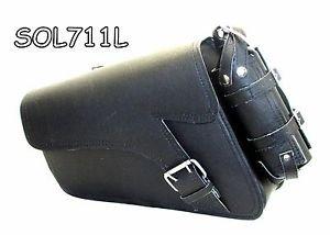 Motorcycle Leather single strap swingarm bag 2 Pin buckle three adjustable strap