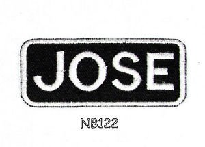 JOSE Name Tag Patch Iron or sew on for Shirt Jacket Vest New BIKER Patches