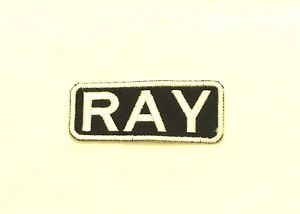 RAY Name Tag Patch Iron on or sew on for Shirt Jacket Vest New Name Patches