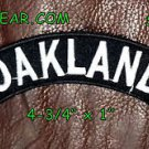 Oakland Embroidered Top Rocker Small Patch Biker Patches for sleeve