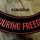 ENDOURING FREEDOM Bottom Rocker Biker Motorcycle Vest Jacket Back Patch BR436